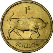 Ireland Shilling 1959 KM# 14a Republic 1S SCILLING PM coin reverse