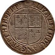 Ireland Shilling Elizabeth I (1601) KM# 9.2 ELIZABETH D G ANG FR ET HIBER REX coin obverse