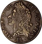 Ireland Shilling (James II Gun Money) KM# 100 IACOBVS. II. DEI. GRATIA. coin obverse