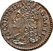 Ireland Sixpence 1689 Jan KM# 93 Gun Money Coinage coin obverse