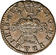 Ireland Sixpence 1689 Jan KM# 93 Gun Money Coinage coin reverse