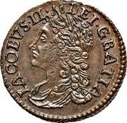 Ireland Sixpence James II Gun Money 1689 Jan KM# 93 IACOBVS ∙II∙ DEI∙GRATIA coin obverse