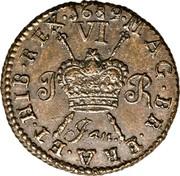 Ireland Sixpence James II Gun Money 1689 Jan KM# 93 MAG∙BR∙FRA∙ET∙HIB∙REX∙ JAN. 1689 coin reverse