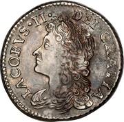 Ireland Sixpence James II Gun Money 1689 Proof, Feb KM# 93a IACOBVS ∙II∙ DEI∙GRATIA coin obverse