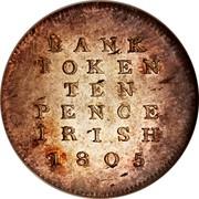 Ireland Ten Pence Token (George III) KM# Tn3 BANK TOKEN TEN PENCE IRISH 1805 coin reverse