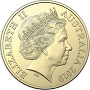 Australia Two Dollars Police - Remembrance 2019  ELIZABETH II AUSTRALIA 2019 IRB coin obverse