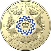 Australia Two Dollars Police - Remembrance 2019  TWO DOLLARS POLICE AWB REMEMBRANCE coin reverse