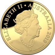 Australia Two Hundred Dollars Australian Coinage Portrait 2019 ELIZABETH II • AUSTRALIA 2019 JC coin obverse