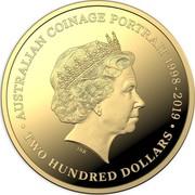Australia Two Hundred Dollars Australian Coinage Portrait 2019 AUSTRALIAN COINAGE PORTAIT 1998-2019 IRB • TWO HUNDRED DOLLARS • coin reverse