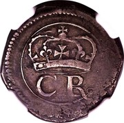 Ireland VI Pence Charles I (1643-1644) Varieties exist KM# 59 CR coin obverse