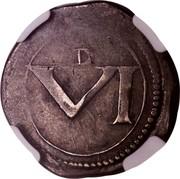Ireland VI Pence Charles I (1643-1644) Varieties exist KM# 59 D VI coin reverse