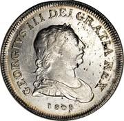 Ireland XXX Pence Token George III 1808 Harp top points between O and K in TOKEN. KM# Tn4 GEORGIVS III DEI GRATIA REX coin obverse