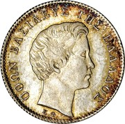 Greece 1/2 Drachma 1834 A KM# 19 Kingdom ΟΘΩΝ ΒΑΣΙΛΕΥΣ ΤΗΣ ΕΛΛΑΔΟΣ Κ.Φ. coin obverse