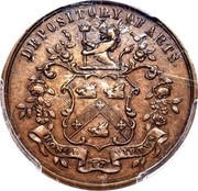 Canada 1/2 Penny F. McDermott ND (1845-1855)  DEPOSITORY OF ARTS coin obverse
