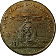 UK 1/2 Penny (Warwickshire - Birmingham Lutwyche's) LUTWYCHES MANUFACTORY BIRMINGHAM coin reverse
