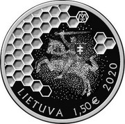 Lithuania 1.50 Euro The Tree Beekeeping 2020 LIETUVA 1,5€ 2020 coin obverse