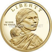USA $1 (Anti-Discrimination Law) LIBERTY IN GOD WE TRUST GG coin obverse