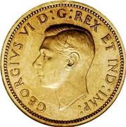 Canada 1 Cent George VI Specimen Pattern Thick planchet 1937 KM# TS5 GEORGIVS VI D:G:REX ET IND:IMP: coin obverse