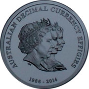 Australia 1 Dollar 4th Portrait - Triple Effigies 2014 Unc AUSTRALIAN DECIMAL CURRENCY EFFIGIES 1966 - 2014 coin reverse
