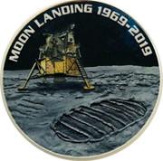 Australia 1 Dollar 50th Anniversary of the Moon Landing (coloured) 2019 MOON LANDING 1969 - 2019 P LB coin reverse