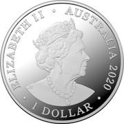 Australia 1 Dollar 6th portrait - Kangaroos at Dawn 2020 Proof ELIZABETH II • AUSTRALIA 2020 JC 1 DOLLAR coin obverse