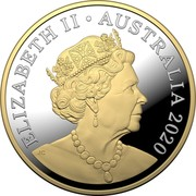Australia 1 Dollar 6th portrait - Mob of Roos 2020 Proof ELIZABETH II • AUSTRALIA 2020 JC coin obverse