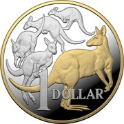Australia 1 Dollar 6th portrait - Mob of Roos 2020 Proof 1 DOLLAR coin reverse