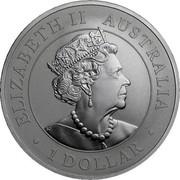 Australia 1 Dollar 6th Portrait - Super Pit 2019 P BU - Perth Mint ELIZABETH II AUSTRALIA 1 DOLLAR JC coin obverse