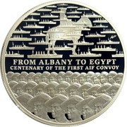 Australia 1 Dollar AIF Sail from Albany 2014 Proof FROM ALBANY TO EGYPT CENTENARY OF THE FIRST AIF CONVOY coin reverse