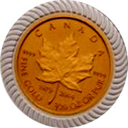 Canada 1 Dollar An Era of Triumph 25th Anniversary 2004 CANADA FINE GOLD 1/20 OZ OR PUR 1979 2004 9999 9999 coin reverse