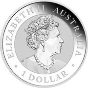 Australia 1 Dollar Australian Koala 2020 ELIZABETH II • AUSTRALIA • 1 DOLLAR • coin obverse