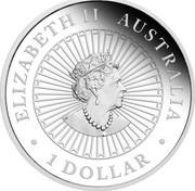 Australia 1 Dollar Australian Opal Lunar Mouse 2020 P ELIZABETH II AUSTRALIA JC 1 DOLLAR coin obverse