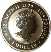 Australia 1 Dollar Australian Silver Swan 2020 P UNC ELIZABETH II 2020 AUSTRALIA 1 DOLLAR JC coin obverse