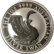 Australia 1 Dollar Australian Silver Swan 2020 P UNC THE 1OZ 9999 AUSTRALIAN SILVER SWAN coin reverse