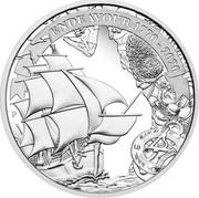 Australia 1 Dollar Australian Voyage Endeavour 2020 Proof ENDEAVOUR 1770-2020 coin reverse