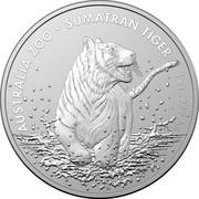 Australia 1 Dollar Australian Zoo Sumatran Tiger 2020 AUSTRALIA ZOO SUMATRAN TIGER coin reverse