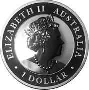 Australia 1 Dollar Hand of Faith 1980 2020 P UNC ELIZABETH II AUSTRALIA 1 DOLLAR coin obverse