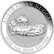 Australia 1 Dollar Hand of Faith 2020 P AUSTRALIAN NUGGET 2020 1 OZ 9999 SILVER coin reverse