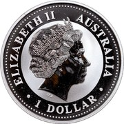 Australia 1 Dollar Kookaburra (Colored) 2000 Proof ELIZABETH II AUSTRALIA 1 DOLLAR coin obverse