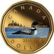 Canada 1 Dollar (Lucky Loonie (Colored)) CANADA RRC DOLLAR 2019 coin reverse