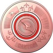 Australia 1 Dollar QANTAS 01 - The Flying Kangaroo 2020 QANTAS 1920-2020 SMS coin reverse