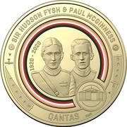 Australia 1 Dollar QANTAS 02 - Sir Hudson Fysh and Paul McGinness 2020 SIR HUDSON FYSH & PAUL MCGUINNESS QANTAS 1920-2020 SMS coin reverse