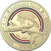 Australia 1 Dollar QANTAS 06 - Kangaroo Route 2020 KANGAROO ROUTE QANTAS 1920-2020 SMS coin reverse