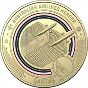 Australia 1 Dollar QANTAS 09 - Australian Airlines Merger 2020 Coincard THE AUSTRALIAN AIRLINE AUSTRALIAN AIRLINES MERGER QANTAS 1920-2020 SMS coin reverse