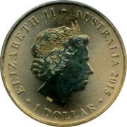 Australia 1 Dollar Snugglepot & Cuddlepie 2015 ELIZABETH II AUSTRALIA 1 DOLLAR 2014 IRB coin obverse