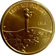 Australia 1 Dollar (War Memorials) LEST WE FORGET 1918 coin reverse