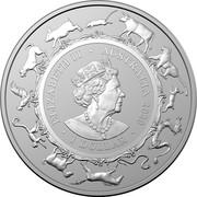 Australia 1 Dollar Year of the Mouse 2020 ELIZABETH II • AUSTRALIA 2020 • 1 DOLLAR • coin obverse