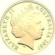 Australia 1 Dollar Year of the Surf Lifesaver 2007 KM# 828b ELIZABETH II AUSTRALIA 2007 coin obverse