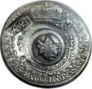 Russia 1 Yefimok Alexey Mikhailovich (Countermarked over Austria Hall Mint Taler 1613) 1655  ET • CARN : MAG : PRVS : ADMI : COMES : HAB : ET : TIROLIS 1655 coin obverse