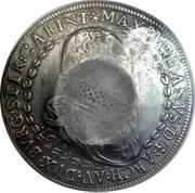 Russia 1 Yefimok Alexey Mikhailovich (Countermarked over Austria Hall Mint Taler 1613) 1655  MAXIMILIANVS : D G : ARCH : AV : DVX : BVRG : STIR : CARINTH coin reverse